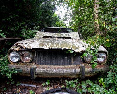 Abandoned car graveyard full of old cars and buses- Finland - Classic Cars Restoration